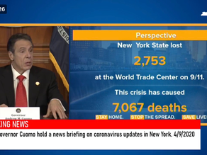 Governor Cuomo says 7,067 deaths caused by the COVID-19 virus.