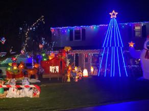 Local neighborhoods decorated for Christmas