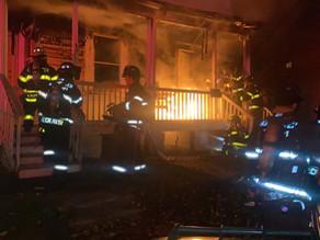 Neighbor discovers house fire on Jefferson Avenue