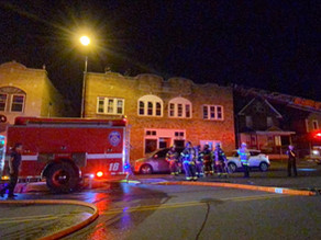 Building fire on Portland Avenue injures one firefighter