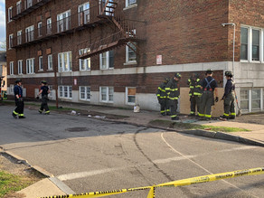 Car crashes in to building on Driving Park Avenue