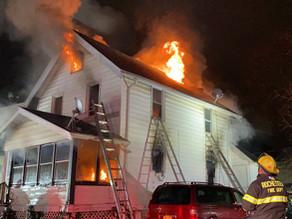 House fire on Ernst Street destroys home