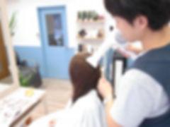 武蔵小山の美容室Hivira・縮毛矯正・ハンドドライで仕上げ