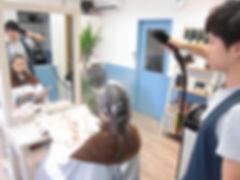 武蔵小山の美容室Hivira・縮毛矯正・パルッキーで蒸して時間を置く