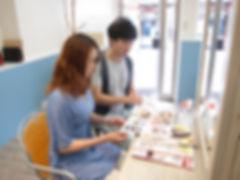 武蔵小山の美容室Hivira・カウンセリング時