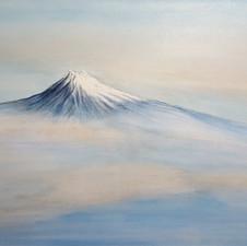 Fuji volcano  h80cm x w120cm
