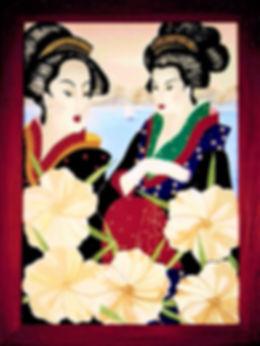 5_Geisha's_________h105_x_br80cm.__gem._