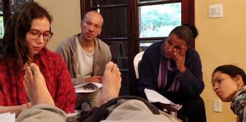 Sheila Rafaini, professora de Medicina Chinesa: Workshop de Reflexologia Podal - 2019. Foto: Marcus Vinícius.