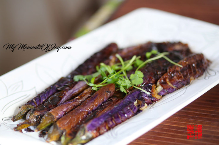Eggplant with Fermented Bean -- 菱鱼豉香蓑衣茄子