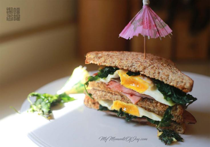 Sprouted Multigrain Bread Eggplant Sandwich