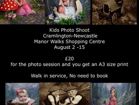 Kids Photo Shoot  Manor-Walks Shopping Centre Cramlington , Newcastle    August 2-15