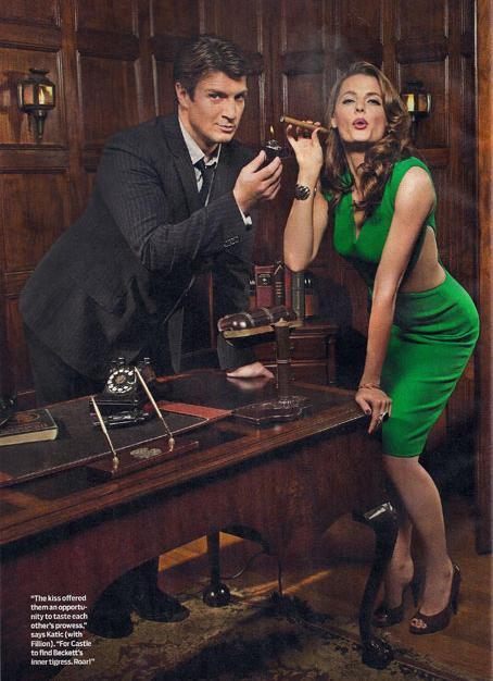 Nathan Fillion and Stana Katic