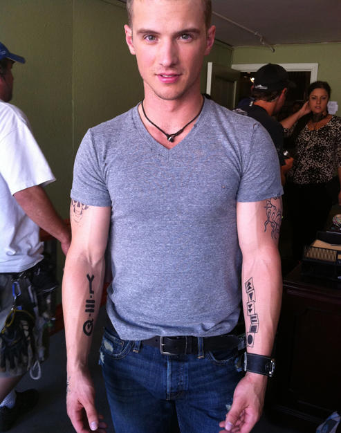 Freddy Stroma (with transfer tattoos)