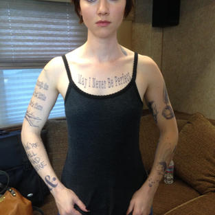 Valorie Curry (with transfer tattoos)