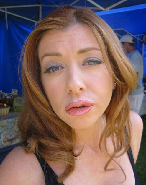 Alyson Hanigan (with Prosthetic Lips)