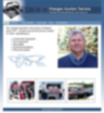 Sample webpage for Wangen Auction Sevice in Cambridge MN