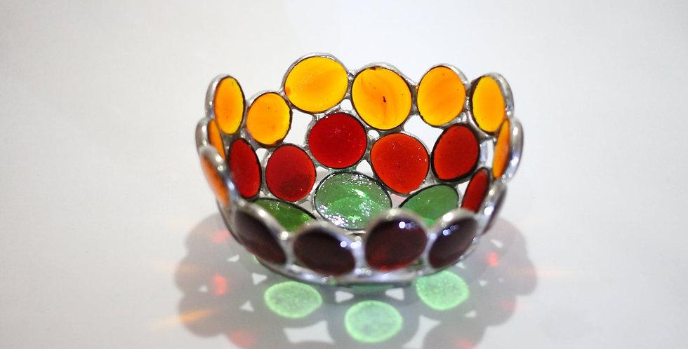 Multi-Coloured Glass Nugget Bowl