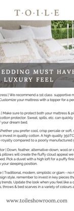 Bedding Must Haves