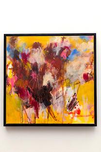 yellow safforn, acrylic & pastels 54x54cm