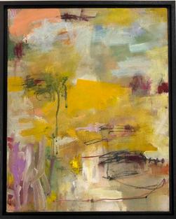 Prabha (aura), oil & pastels on canvas 31x39cm