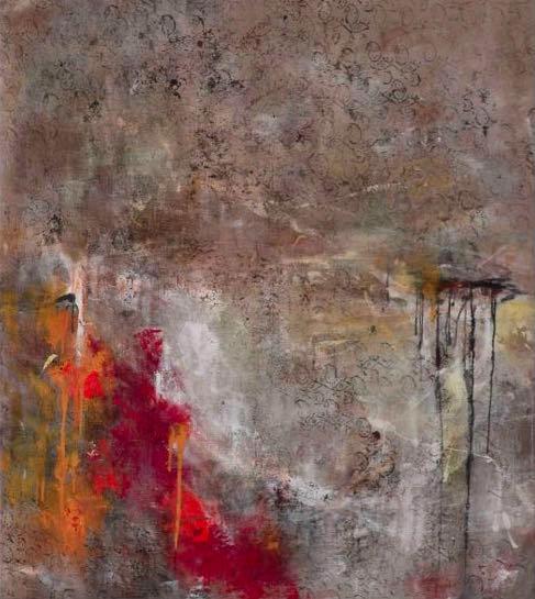 puja, oil & mixed media on linen, 122 x 137cm