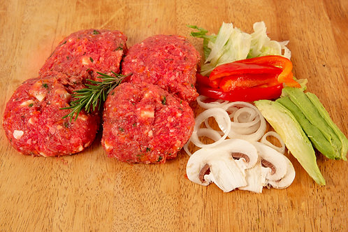 Spanish Onion Beef Burgers $25.00 p/kg