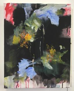 Reflection, acrylic on canvas, 36x28cms.