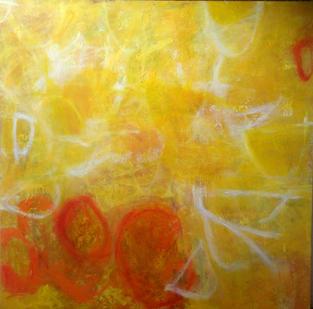 Garbha, oil on canvas, 152 x 152 cms