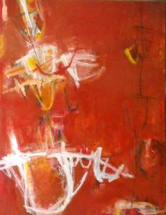 Ganga jal, oil on canvas 122 x 167 cms