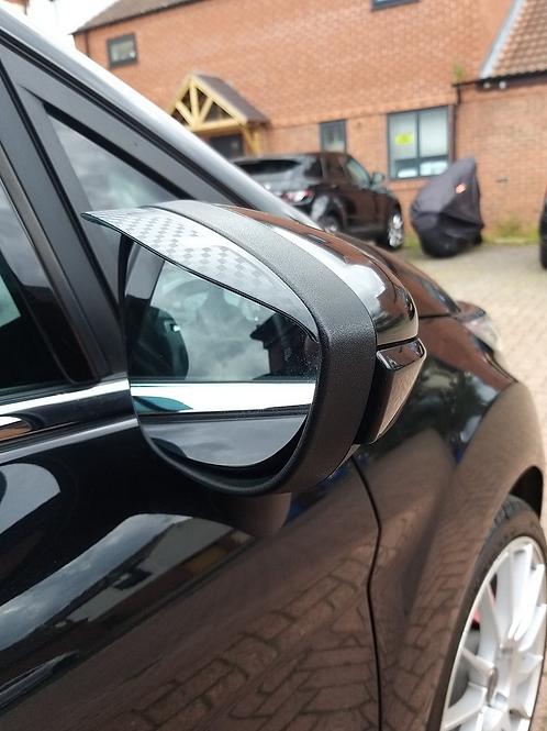 Ford Fiesta Mk7  Carbon Effect  Wing Mirror rain Visors One pair