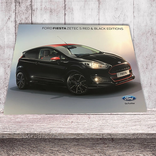 Ford . Fiesta . Fiesta Zetec S . Red & Black Editions . April 2014 Sales Leaflet