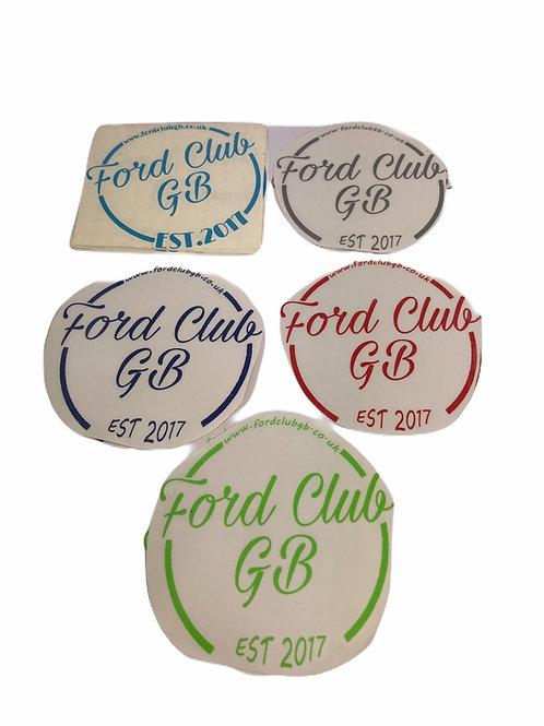Est 2017  Ford Club GB Decal  Website  logo SKU  FCGB 3 External