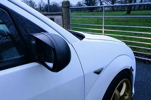 Ford Focus Mk1 1998-2004 Wing Mirror Rain Deflectors Visor Smoked ,Eyebrows,