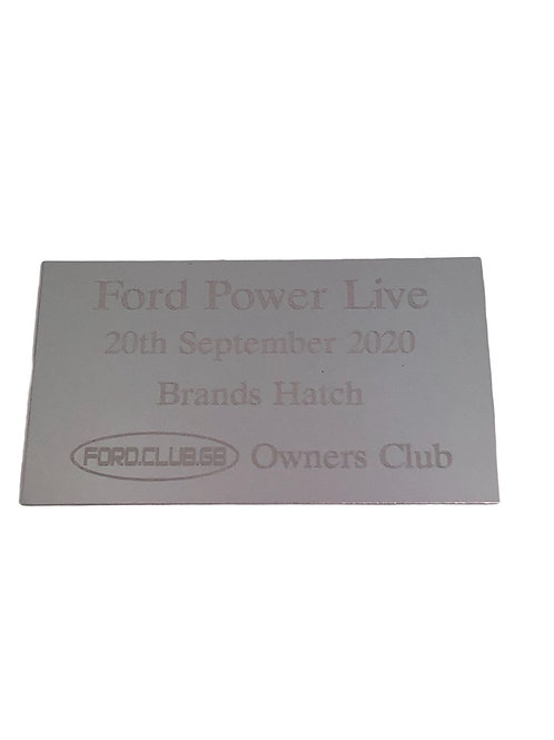Ford club GB Ford power Live  Show Plaques 2020  8x5cms