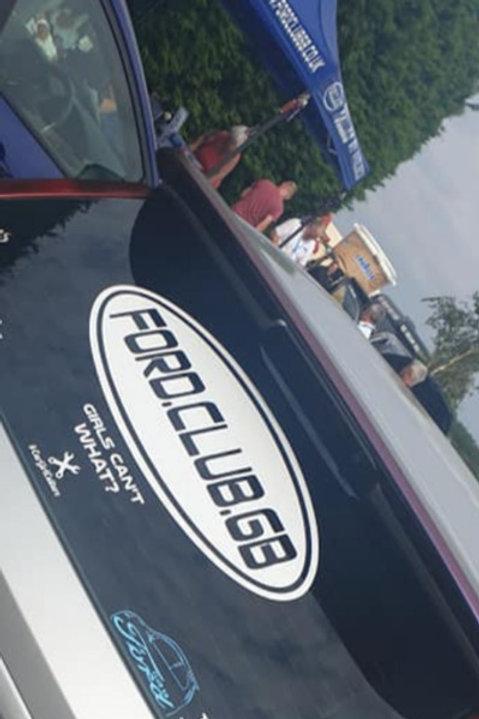 Ford club GB 🇬🇧. Large. Rear. Window. Decal 58x20cms
