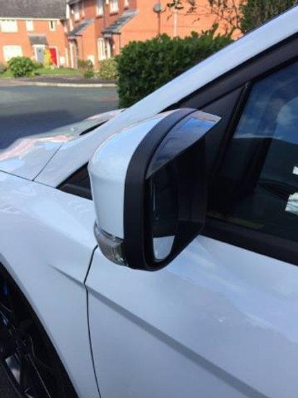 Ford Focus Mk2.5/Mk3 2008-2016 Wing Mirror Rain Deflectors Visor Smoked,Eyebrows