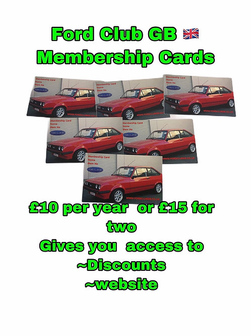Ford Club GB 🇬🇧 Membership with Card Posted