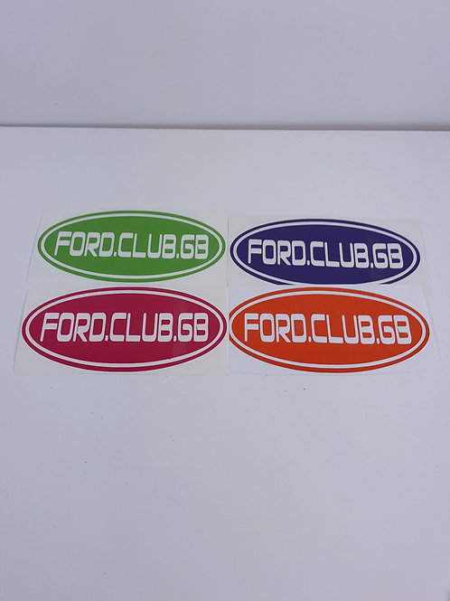 "5 "" Ford Club Gb Decal"