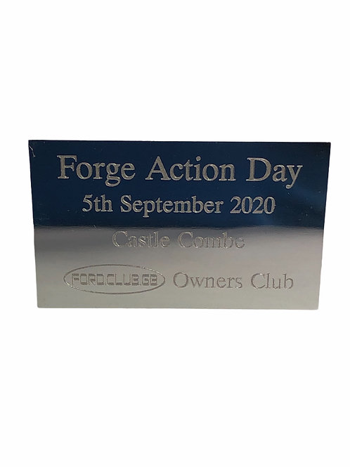 Forge Action Ford Club GB Show Plaque