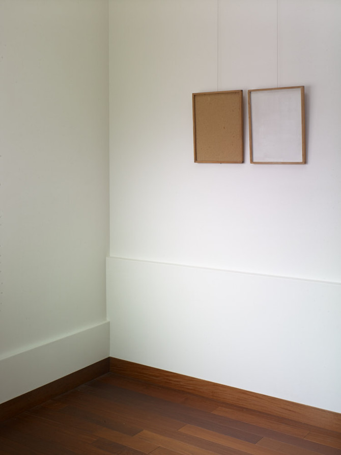 漆喰壁の反射光