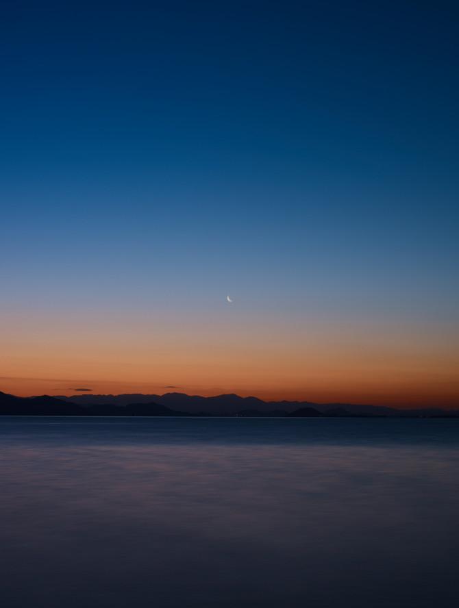 琵琶湖の色彩