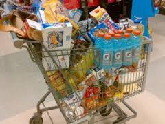 Is your shopping cart like this? (full of process food!)
