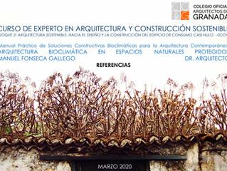 Participación de Manuel Fonseca Gallego curso de experto en Arquitectura Sostenible. COAG.