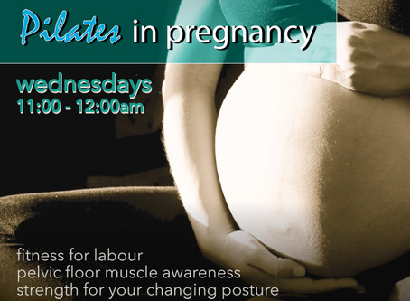 Pilates in Pregnancy - classes starting