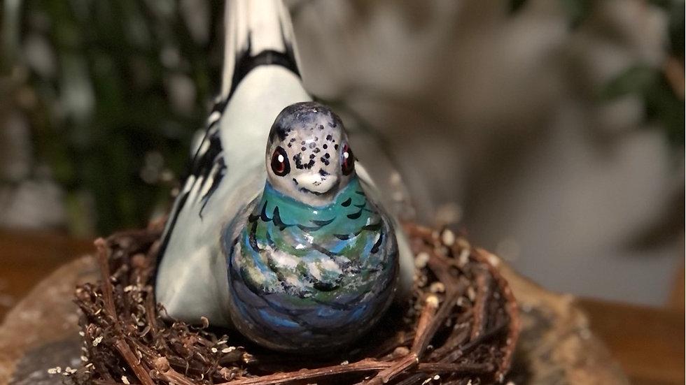 Ceramic Pigeon & Nest