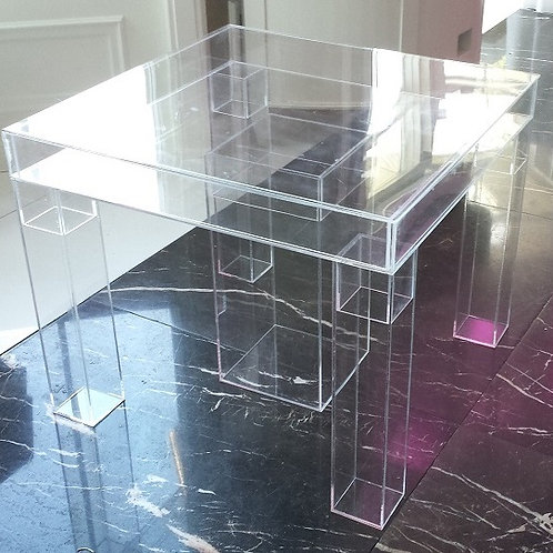 "Acrylic modular top deluxe cake table - 32"" sq x 30"" H"