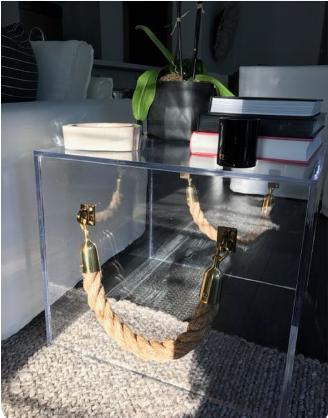 ROpe handle cube_sidetable_gold hardware