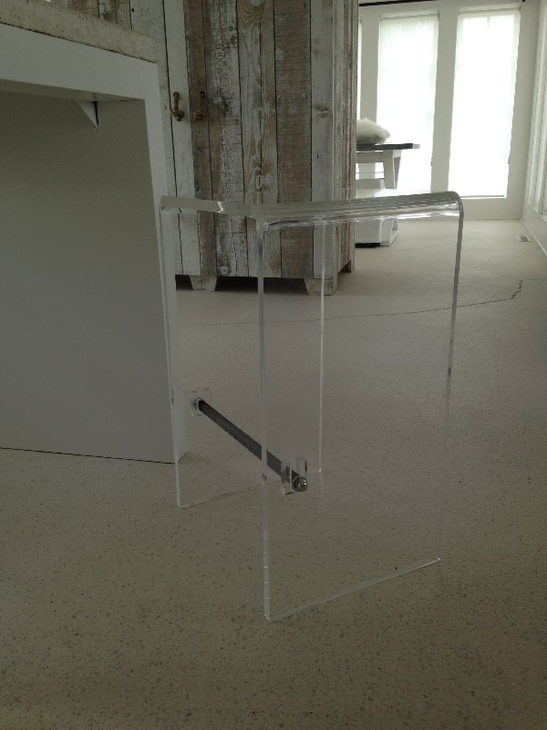 Acrylic Waterfall Bar Stool