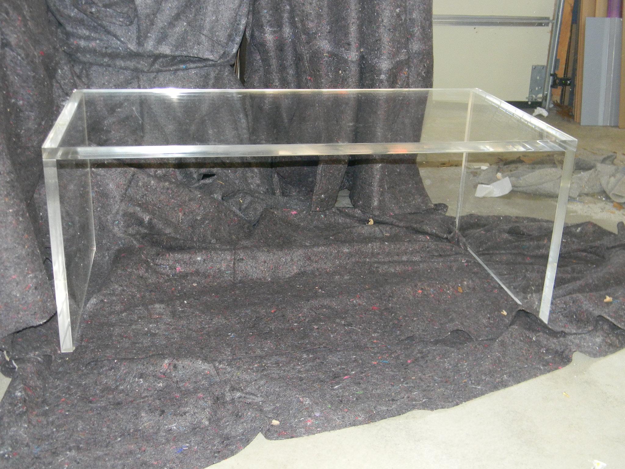 Acrylic Slab Leg Style Table