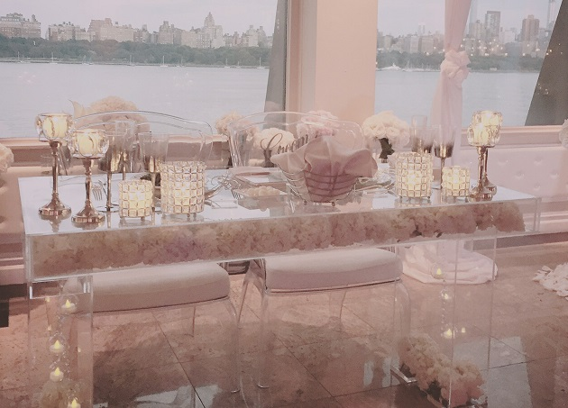 Bridal Table decorated